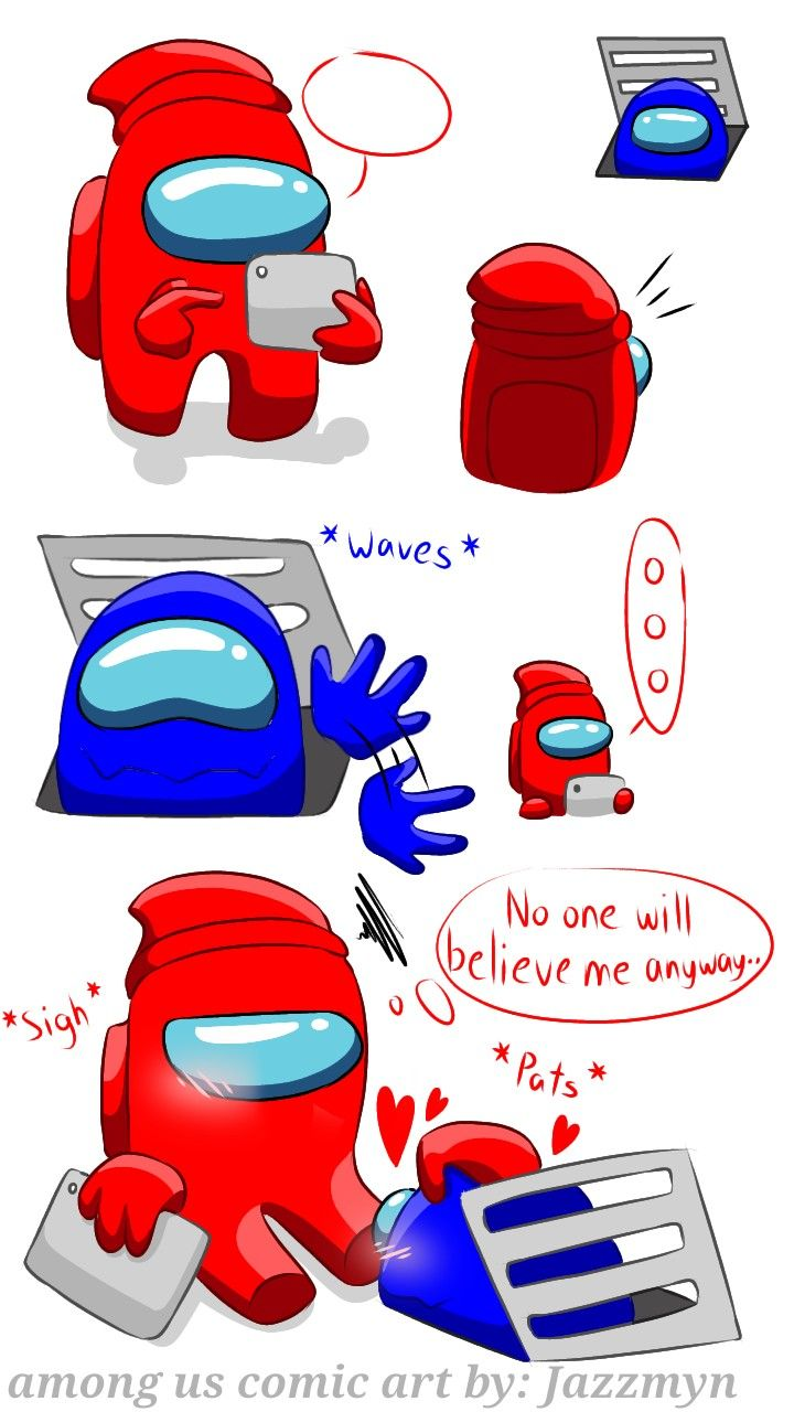 Art By Jazzmyn Among Us Red And Blue Really Funny Memes Stupid Funny Memes Funny Memes