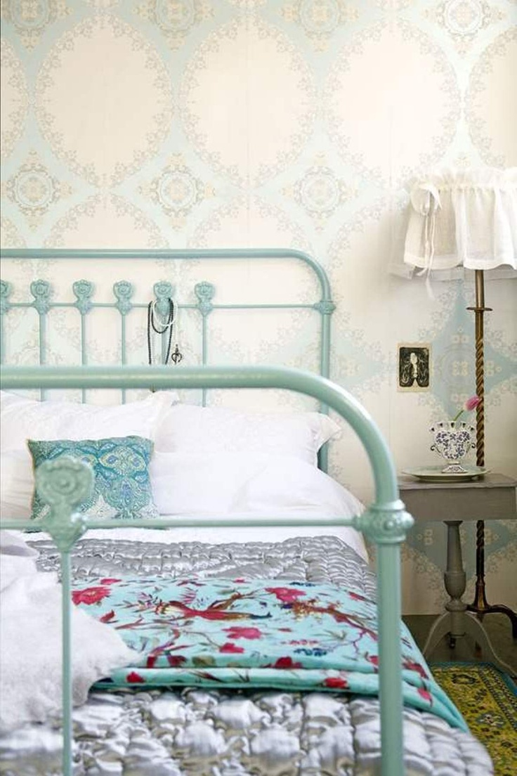 165 best images about Bedroom.. on Pinterest | Shabby, White iron ...