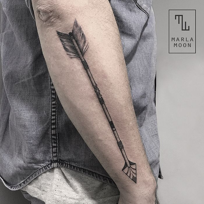 Arrow tattoo for my arm I want it to be a clean well kept arrow same placement.