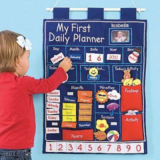 DIY preschool day planner