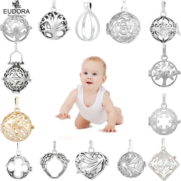 19 Styles Eudora Harmony Bola Ball Cage Pendant Angel Caller Engelsrufer Aromatherapy Floating Lockets Charm Pendants Jewelry