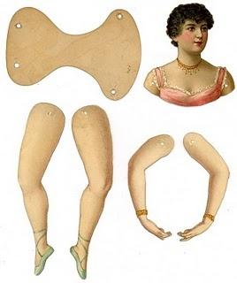 Ballerina Victorian Paper Doll