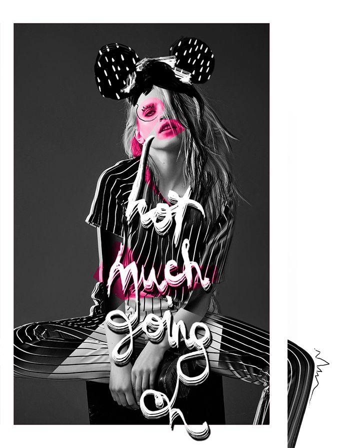 Mixed Media Fashion Collage by Rebecca Coltorti | Model: Anja Konstantinova Ph: Silja Magg