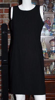 PERCEPTIONS by Irene B Black Striped Formal Dress ~ Petite ~SIZE 8P~ Sleeveless