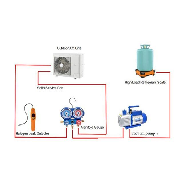 refrigerant recharging scale, small vacuum pump,HVAC manifold gauge, and air  conditioning installation | Air conditioning installation, Small vacuum, Vacuum  pump | Hvac Vacuum Pump Wiring Diagram |  | Pinterest