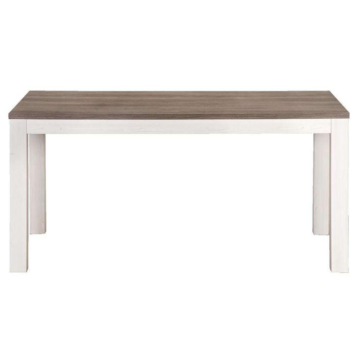 Eetkamertafel Lynn - wit eikenkleur - 77x140x90 cm