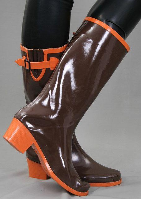 Rubber block heels   Freya's world of high heel rubber boots   Flickr