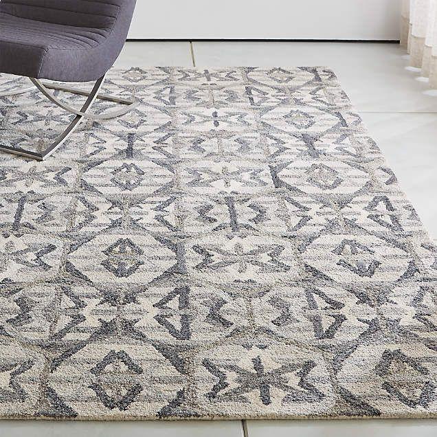 Pietro Terrazzo Grey Geometric Rug Swatch 12x12 Reviews Crate And Barrel Grey Geometric Rug Geometric Rug Rugs On Carpet
