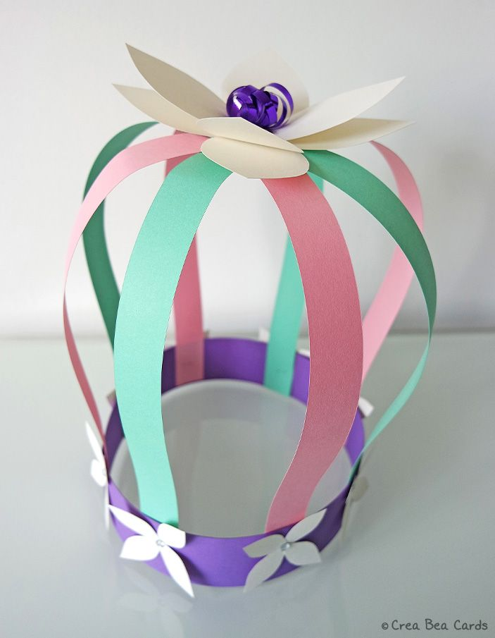 Spring paper crown idea: http://creabeacards.com/spring-paper-crown/