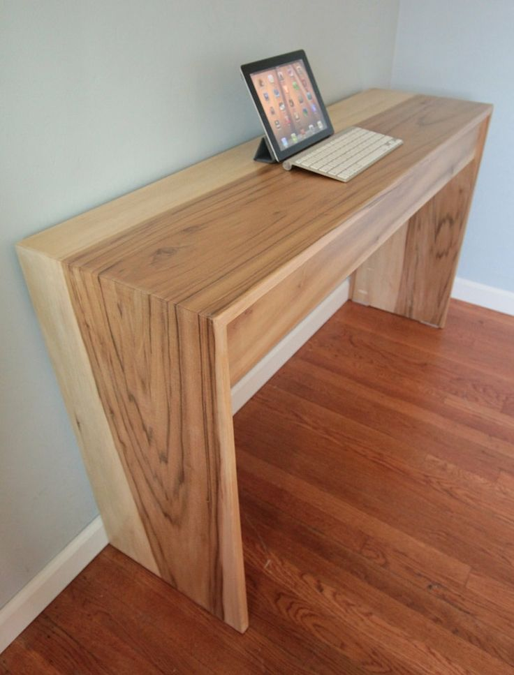 The 25 best ideas about modern wood desk on pinterest monitor stand imac desk and cool desk - Wood office desk ...