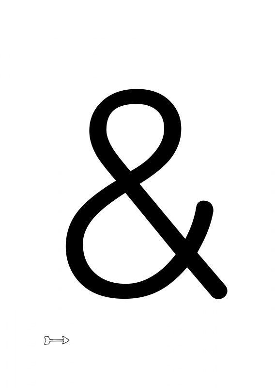 hart zwart-wit | * Letters |