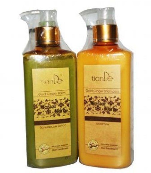 TianDe Gold Ginger Hair Shampoo 300ml 21308 and Gold Ginger Hair Balm 300ml  #Tiande