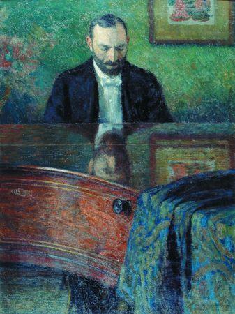 Leon Wyczółkowski, Feliks Jasieński przy organach, 1902, olej na płótnie