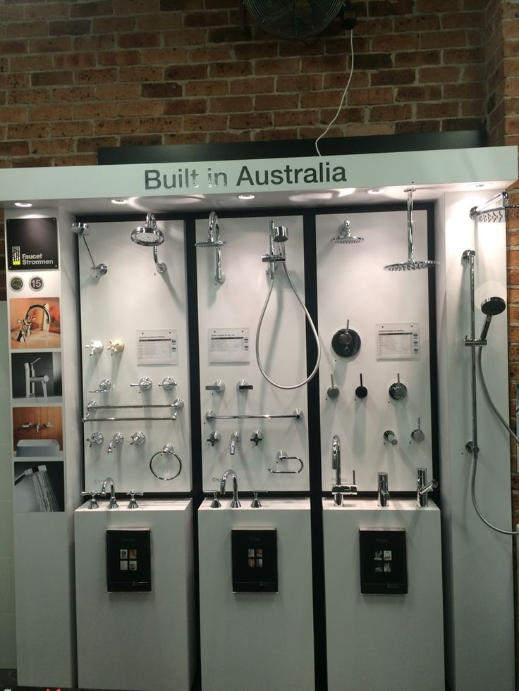 Our new Faucet Stommen display looks great in our showroom #australianbuilt #quality