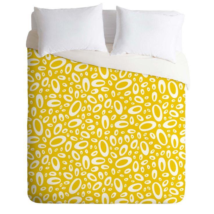 Heather Dutton Molecular Yellow Duvet Cover | DENY Designs Home Accessories