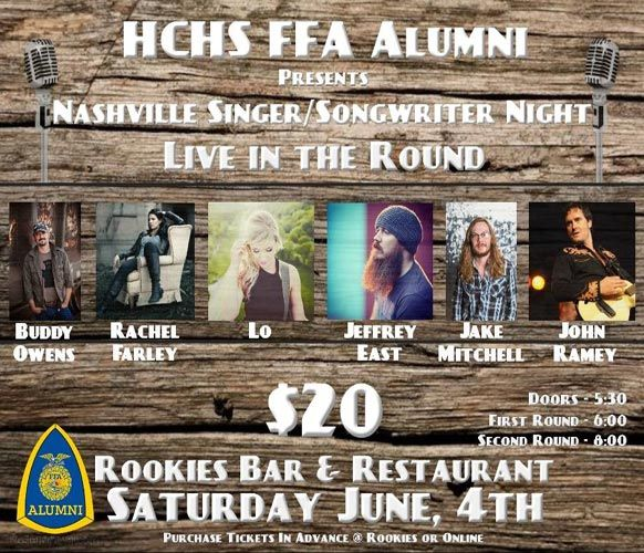 FFA Nashville Singer/Songwriter Event Benefits Scholarships