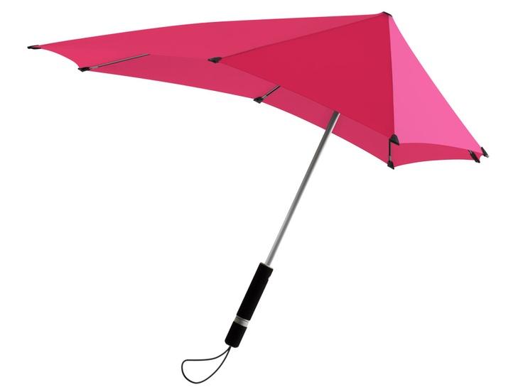 Aerodynamic umbrella - but will it keep you dry?