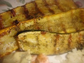 Grilled DILL SUMMER SQUASH * Zucchini and Yellow Crookneck * LOW CALORIE * LOW CARB * NO FAT **