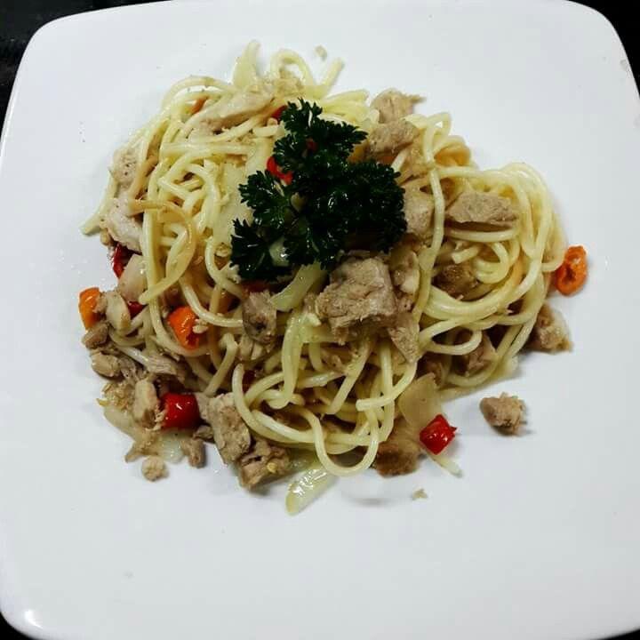 Hot tuna spageti