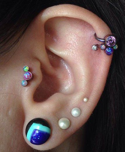 Get These Pearl Ear Piercings at  MyBodiArt for Cartilage, Tragus, Helix, Conch and much more !
