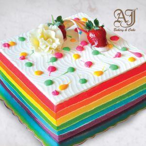 AJ BAKERY & CAKE ONLINE SHOP - AJ Products RAINBOW CAKE 02