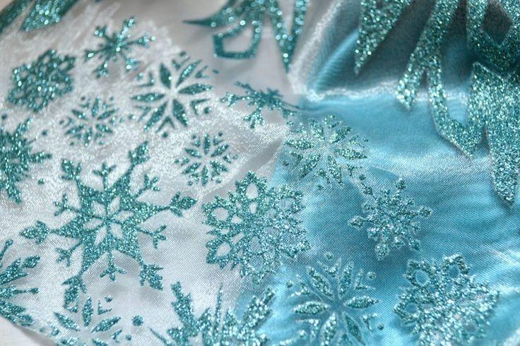 Disney Frozen snowflake cape fabric