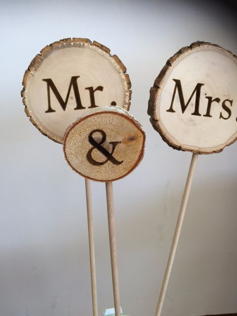 DIY Wood Wedding Cake Toppers  #diy #wedding #caketoppers