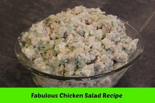Chicken Salad Recipe - There is no way to describe how good this chicken salad is – you will have to make it and see, but believe me when I say this chicken salad is delicious.  http://www.annsentitledlife.com/recipes/chicken-salad-recipe/