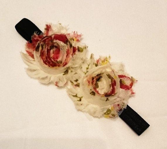Check out this item in my Etsy shop https://www.etsy.com/au/listing/454307002/girls-shabby-flower-elastic-headband