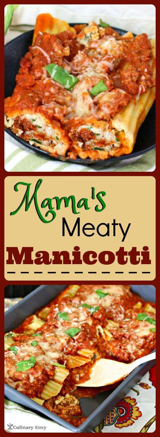 Mama's Meaty Manicotti
