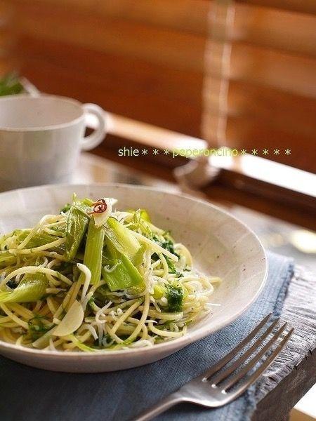 しらすと青海苔とたっぷり葱でペペロンチーノ by 宮沢史絵 | レシピ ...