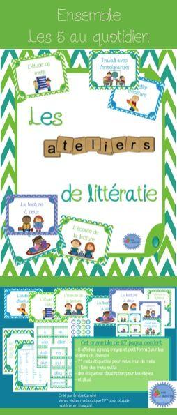 Ensemble pour les ateliers de littératie/les 5 au quotidien