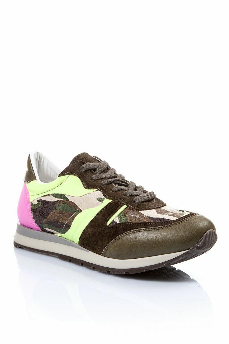 Pembe Sarı Neon Kamuflaj Spor Ayakkabı - Soldier | Trendy Topuk | Trendy Topuk | Ayakkabı | 150 TL ve üzeri alışverişlerinizde Kargo ücretsiz
