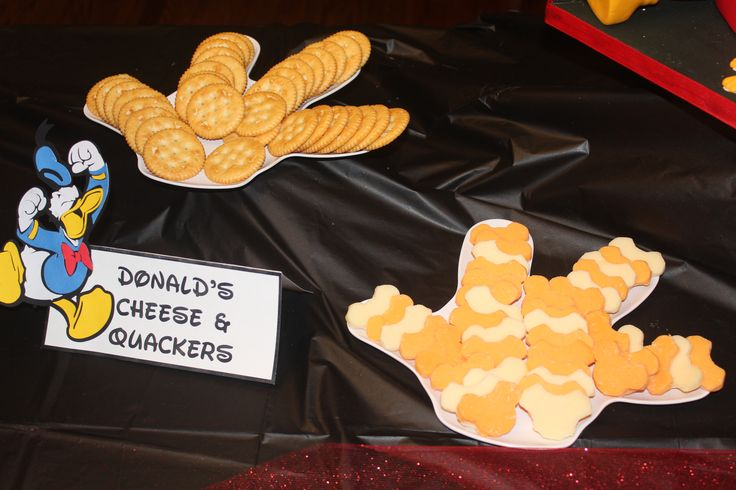 Donald's Cheese & Quackers-Mickey Mouse birthday party