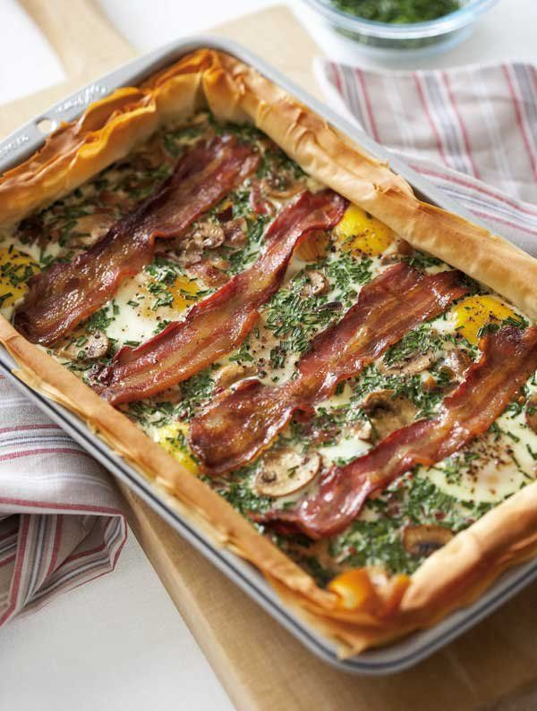 how to make bacon and egg pie with bread