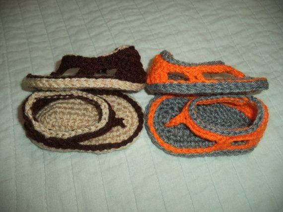 Crochet bébé garçon sandales