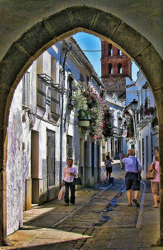 Street in Zafra, Extremadura_ Spain