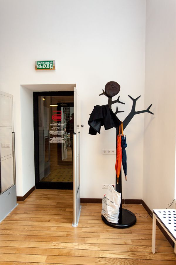 Media Library with SENAB Russia. Swedese. Tree. Coat stand.