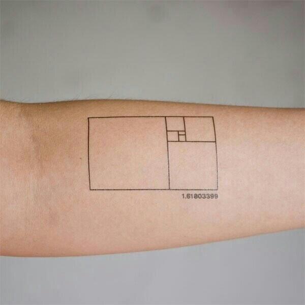 Fibonacci Code Tattoo