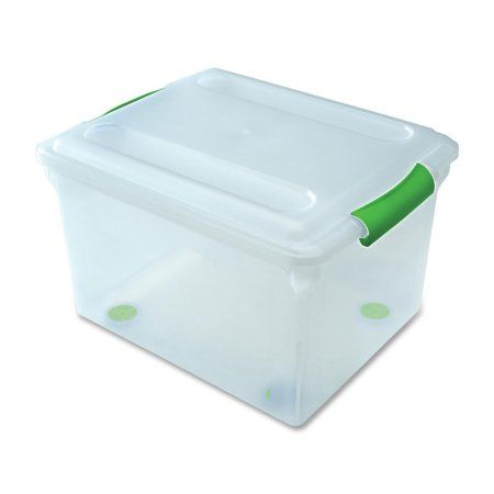 I R I S Stor N Slide Plastic Storage File Boxes Green 4