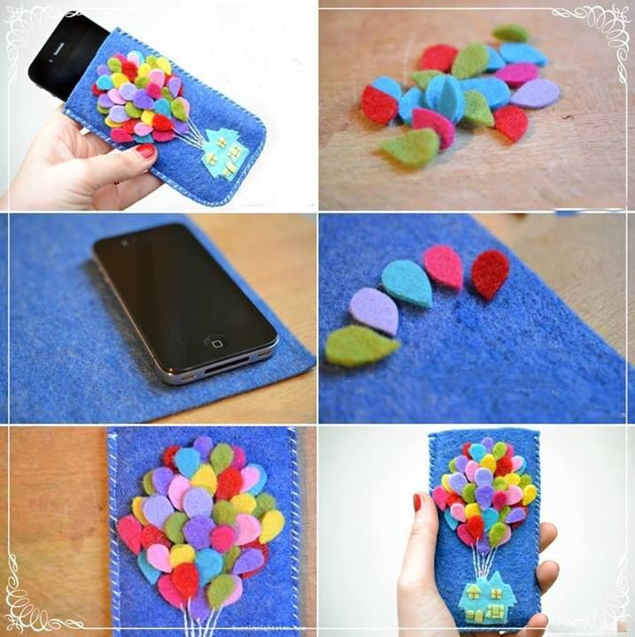 Up felt phone case