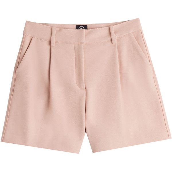 McQ Alexander McQueen Cotton Shorts (7.330 RUB) ❤ liked on Polyvore featuring shorts, bottoms, pants, short, none, rose, pink cotton shorts, tailored shorts, slim fit shorts and high waisted cotton shorts