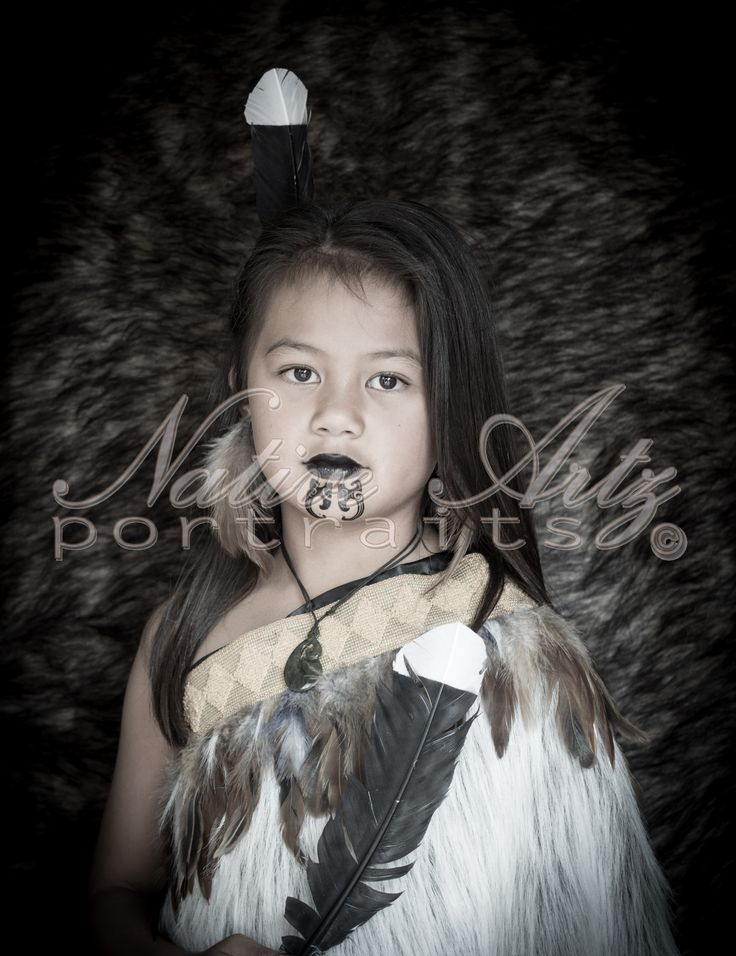 Native Artz Portraits 2014, Very proud representing her Maori side in this portrait, 2014, Tamariki (children), Maori Portrait, get your own at https://www.facebook.com/NativeArtzPortraits