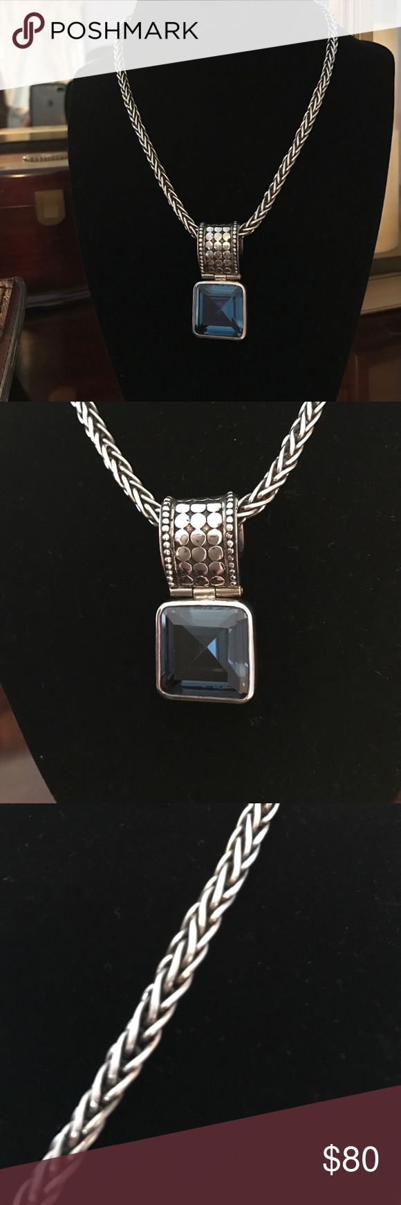 Silpada Silver Rope Chain with blue stone pendant Beautiful Silpada necklace. Thick silver rope chain with blue stone pendant. Silpada Jewelry Necklaces