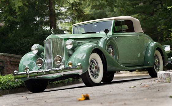 "1935 Packard Twelve Coupe Roadster - almost the car of the novel ""The Last Convertible"""