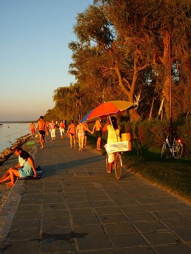 dog days, Lake Balaton, Hungary
