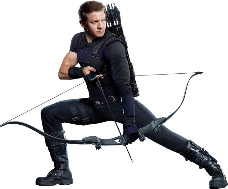 Hawkeye (Except I hope they flipped the picture for the promo BECAUSE HE'S SUPPOSED TO BE LEFTHANDED GUYS AND HE'S NOT IN THIS PIC)