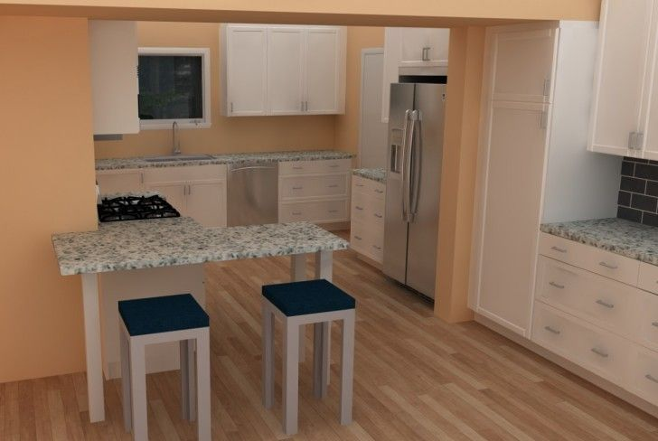 Smart Ideas and Designs for Small Kitchens: Stunning Small Kitchen Ideas Pictures Ikea Small Kitchen Interior Home Designs Countertops Build In Hob Top Cabinet Base Cabinet Kitchen Sink Faucet Bar Stool Refrigerator Laminate Flooring ~ boholmain.com Kitchen Design Inspiration