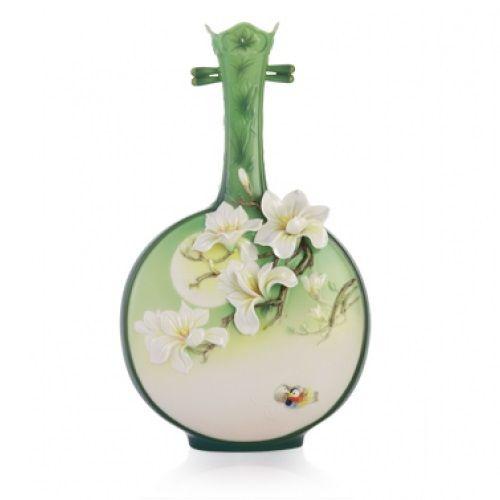 Magnolia Vase | Sculptured Porcelain | Franz Porcelain