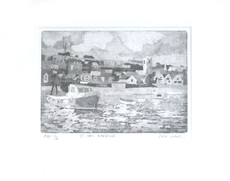 Eric Ward Limited Edition Etching 'St Ives Harbour ' online at www.navigatorarts.co.uk